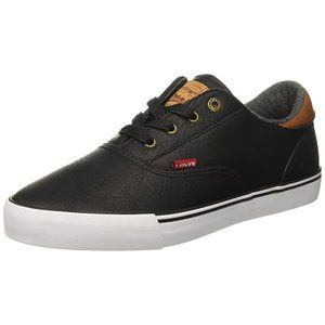 Levi's Ethan Cacti Sneakers Lace-Up Closure Black
